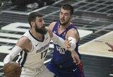 """J.Valančiūnas buvo arti dvigubo dublio, o """"Grizzlies"""" Los Andžele pažemino """"Clippers"""""""