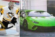 """NHL vartininkai kirto lažybų – nugalėtojas važinės su """"Lamborghini"""""""