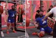 Ruso bandymas pritūpti su 400 kg štanga baigėsi tragiškai: mokysis vaikščioti iš naujo