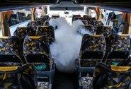 Krepšininkus vežantiems autobusams – aukščiausi higienos standartai