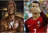 Ar panašus: šokolado meistras sukūrė saldžiausią C.Ronaldo skulptūrą