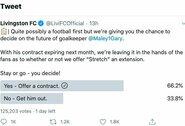 """Naujovė: sirgaliai """"Twitter'yje"""" sprendžia žaidėjo likimą"""