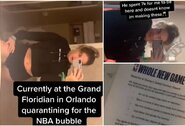 """Naujas NBA """"burbulo"""" pažeidimas? """"TikTok"""" žvaigždė tikina, kad jai buvo sumokėta už atvykimą į viešbutį"""