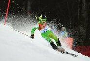 R.Zaveckas kalnų slidinėjimo varžybose Juodkalnijoje buvo netoli prizininkų