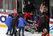 Nemalonus atvejis KHL atkrintamosiose varžybose: teisėjas prarado sąmonę