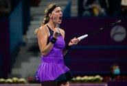 WTA turnyro Dohoje finale – P.Kvitovos dominavimas