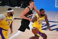 """Lakers"" klubui iki NBA finalo trūksta vienos pergalės"