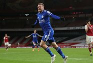 """J.Vardy įvartis padovanojo """"Leicester City"""" pergalę prieš """"Arsenal"""""""