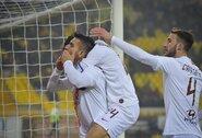 """""""Roma"""" užsitikrino paskutinį bilietą į Italijos taurės ketvirtfinalį"""