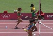Neįtikėtina: viena pagrindinių pretendenčių į medalį 200m bėgimo rungtyje atsipalaidavo per anksti ir dėl 0.004 sek. nepateko į pusfinalį
