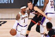 """""""Lakers"""" išsaugojo finalo serijoje naudingai žaidusį krepšininką"""