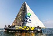 """Gotlando lenktynių iššūkis: """"Ambersail 2"""" ir """"Sailing Poland"""" pradėjo bekompromisę kovą Klaipėdos uoste"""