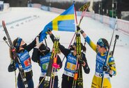 Pasaulio biatlono taurės etapas prasidėjo švedžių pergale, baltarusės buvo netoli staigmenos