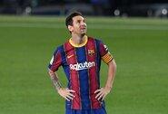 """L.Messi prabilo apie futbulo pasaulį supurčiusį norą atsisveikinti su """"Barcelona"""""""
