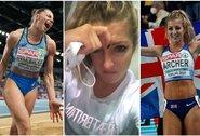 Europos čempionato dramos: ukrainietė paskutiniu šuoliu išplėšė auksą, po diskvalifikacijos ašaras liejusi britė atgavo sidabrą