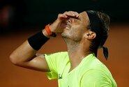 """Sensacija: teniso mažylis Romoje parklupdė """"grunto karalių"""""""