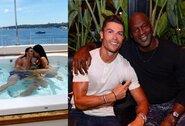 C.Ronaldo atostogos: karšti bučiniai su C.Rodriguez, dosnūs arbatpinigiai, susitikimas su M.Jordanu ir brangiai kainuojanti jachta
