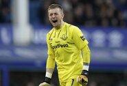 """""""Everton"""" vartų sargas J.Pickfordas: """"Žinome, jog galime nugalėti """"Liverpool"""""""