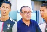 Pamatykite: C.Ronaldo reakcija į M.Sarri patarimą apskriejo pasaulį