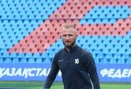 Po ilgos pertraukos V.Andriuškevičius prisijungė prie komandos treniruočių