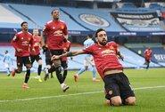 """""""Man Utd"""" nutraukė įspūdingą """"Man City"""" komandos 21-erių laimėtų rungtynių seriją"""