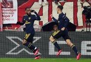 """Vėlyvas A.Lacazetto įvartis padėjo """"Arsenal"""" nukauti """"Olympiacos"""""""