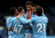 """""""Man City"""" nepaliko šansų """"Newcastle Utd"""" futbolininkams"""