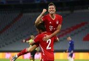 Dublį Čempionų lygos aštuntfinalyje pelnęs R.Lewandowskis priartėjo prie C.Ronaldo rekordo