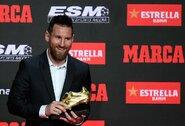 L.Messi įteiktas rekordinis šeštasis auksinis batelis