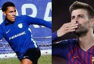"""""""Barcelona"""" gynėjas G.Pique į jam priklausančią """"Andorros"""" komandą pasikvietė žmonos sūnėną"""