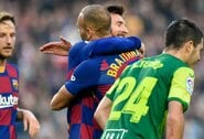 """L.Messi apkabinimo sulaukęs M.Braithwaite'as: """"Šių savo rūbų neskalbsiu"""""""