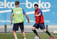 """Geros žinios: L.Messi dalyvavo """"Barcelona"""" ekipos treniruotėje"""