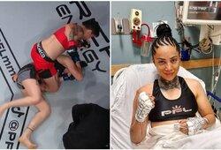 Vyrą MMA kovoje nugalėjusi J.Pajič PFL debiutavo lūžusia nosimi per 51 sekundę