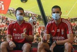 """Akmenimis apmėtyti """"Benfica"""" žaidėjai prabilo po fanų išpuolio"""