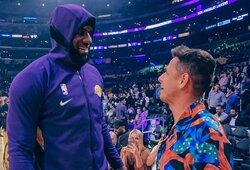 """Su """"Lakers"""" žvaigžde L.Jamesu susitikęs J.Hernandezas: """"Tai svajonės išsipildymas"""""""