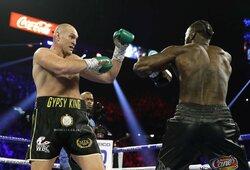 Kova dėl sunkiasvorių bokso pasaulio čempiono diržo: D.Wilderis – T.Fury (3 raundas, GYVAI)