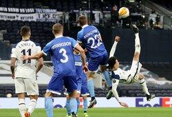 "Europos lygos šešioliktfinalis: triuškinama ""Tottenham"" pergalė paženklinta fantastišku D.Alli smūgiu per save"
