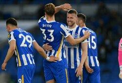"""Dviejų įvarčių deficitą panaikinęs """"Brighton"""" patiesė """"Man City"""" futbolininkus"""