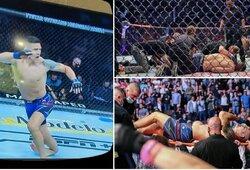 Pirmą kartą UFC istorijoje nugalėtojas neatliko nė vieno smūgio: Ch.Weidmanas patyrė kraupią traumą