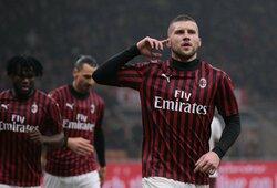 """Minimalią pergalę iškovoję """"Milan"""" pakilo dviem pozicijomis Italijoje"""