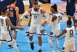 NBA lietuvių akistatoje – J.Valančiūno karjeros mačas ir arti trigubo dublio likęs D.Sabonis