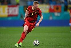 """""""WhoScored"""" verdiktas: geriausias """"Euro 2020"""" grupių etapo žaidėjas – K.De Bruyne"""