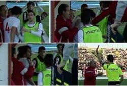 Italijoje neapsikentęs treneris trenkė savo žaidėjui ir buvo išvarytas iš aikštės