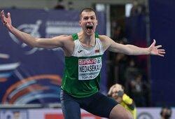 A.Glebauskas liko per vieną sėkmingą šuolį nuo Europos čempionato bronzos, baltarusis įspūdingai išplėšė auksą