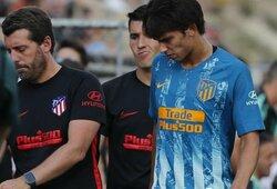 """Apkarto J.Felixo debiutas """"Atletico"""" gretose – susižeidęs puolėjas aikštę paliko sužaidus vos 28 minutes"""