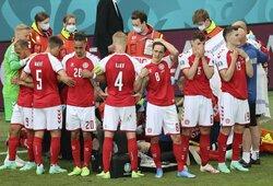 Danijos rinktinės treneris atskleidė, kokį klausimą komandos draugams po pralaimėjimo uždavė Ch.Eriksenas