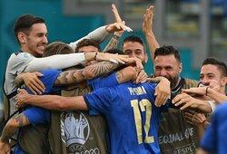 Euro 2020: 3 pergales iškovojusi Italijos rinktinė tapo A grupės nugalėtoja