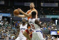 "D.Motiejūnas prieš ""Clippers"" užfiksavo nemalonų trigubą dublį"