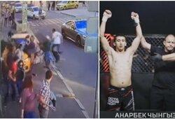 """Šiurpią avariją Maskvoje sukėlęs taksistas žengė į narvą ir nugalėjo """"Rosgvardijos"""" atstovą"""