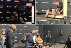 """""""UFC Vegas 22"""" svėrimai: J.Stoliarenko du kartus krito nuo svarstyklių, buvo išgabenta neštuvų pagalba, o jos kova su J.Avila –atšaukta"""
